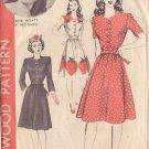 HOLLYWOOD PATTERN 1153 MISSES' 1940'S DRESS 2 VARIATIONS SZ 12 JANE WYATT