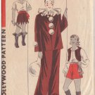Hollywood Pattern 1241 Halloween Pierrot (Clown),Gypsy,Pirate SZ 8 Year