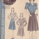 HOLLYWOOD PATTERN 618, 40'S BLOUSE & SKIRT SZ 14 FEATURING PRISCILLA LANE