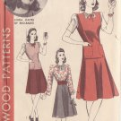 HOLLYWOOD PATTERN 698, 40'S BLOUSE & SKIRT JERKIN SZ 16 FEATURING LINDA HAYES