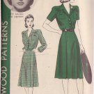 HOLLYWOOD PATTERN 736, 40'S SZ 16 ONE PIECE DRESS FEATURING BETTY GRABLE
