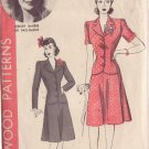 HOLLYWOOD PATTERN 815 MISSES' 40'S  SZ 20 TWO PIECE SUIT WENDY BARRIE
