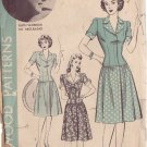 HOLLYWOOD PATTERN 888 MISSES' 40'S  SZ 14 1-PIECE DRESS RUTH WARRICK