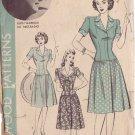 HOLLYWOOD PATTERN 890 MISSES' 40'S  SZ 18 1-PIECE DRESS RUTH WARRICK