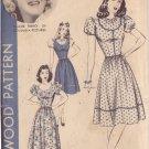 HOLLYWOOD PATTERN 916 MISSES' 40'S  SZ 18 1-PIECE DRESS CLAIRE TREVOR