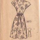 AMERICAN WEEKLY VINTAGE PATTERN 3873 MISSES' 40'S  SZ 16 DRESS