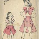 ADVANCE VINTAGE UNPRINTED 40'S PATTERN 4159 GIRLS' PLAYSUIT SIZE 8