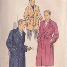ADVANCE 7872 VINTAGE PRINTED PATTERN SIZE SMALL MEN'S ROBE IN 2 LENGTHS