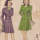 VINTAGE Du Barry UNPRINTED PATTERN 5795 40'S SIZE 12 GIRLS SUIT