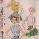 SIMPLICITY PATTERN 4238 MISSES' BLOUSE IN 3 VARIATIONS SIZE 14