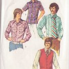 SIMPLICITY PATTERN 5047 SZ 42 MEN'S VEST, SET OF SHIRTS IN 3 VARIATIONS