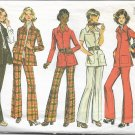 SIMPLICITY PATTERN 5247 SIZE 12 DATED 1972 MISSES' SHIRT-JACKET, AND PANTS