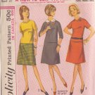 SIMPLICITY PATTERN 6104 SIZE 12S DATED 1963 MISSES' 2 PC DRESS WITH DETACHABLE COLLAR
