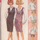 SIMPLICITY PATTERN 6276  SIZE 10  MISSES' BLOUSE WITH 4 NECKLINES AND JUMPER