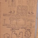 PICTORIAL REVIEW PATTERN 9737 SZ 10 YR GIRLS' 1-PIECE DRESS DATED 1907