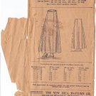 NEW IDEA UNPRINTED PATTERN 7853 SZ 24 SKIRT WAIST  CIRCA 1919
