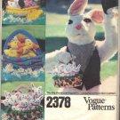 VOGUE 2378 EASTER BASKETS RABBITS,DUCKS + 6 ANIMALS CRAFT PATTERN UNCUT