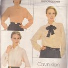 VOGUE PATTERN 1025 MISSES' SIZES 6/8/10 BLOUSES 3 STYLES CALVIN KLEIN