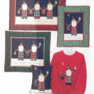 STAR BRIGHT SANTA 3 Wall hanging & Pillow Christmas Sewing Quilt Pattern Shirt