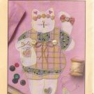 PRISSY CAT APPLIQUE PATTERN PACKET NUMBER 196 UNCUT