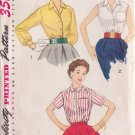 SIMPLICITY PATTERN 4256 SIZE 12 MISSES' BLOUSE IN 3 VARIATIONS