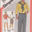 SIMPLICITY PATTERN 5399 SIZE 39 WAIST MEN'S SHORTS 2 LENGTHS & PANTS