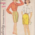 SIMPLICITY PATTERN 3520 SIZE 14 MISSES' BLOUSE & SHORTS IN 2 VARIATIONS