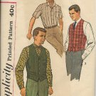 SIMPLICITY PATTERN 3547 SIZE 40 MEN'S SHIRTS AND VEST
