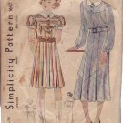 SIMPLICITY VINTAGE UNPRINTED PATTERN 1697 SIZE 12 YEAR GIRL FOR DRESSES