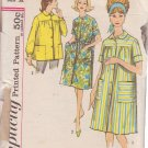 SIMPLICITY PATTERN 4572 SIZE 12 MISSES' DUSTER IN 2 VARIATIONS, SMOCK
