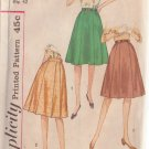 SIMPLICITY VINTAGE PATTERN 4543 SIZE 32 MISSES' SKIRTS IN 2 VARIATIONS
