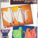 SIMPLICITY 0677 8648 NO SEW CHILDS' HALLOWEEN COSTUMES SM -LG