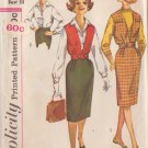 SIMPLICITY PATTERN 3590 SIZE 13J MISSES' BLOUSE JACKET/VEST SKIRT
