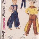 SIMPLICITY 3025 CHILD'S SIZE 8 COWBOY WITH CHAPS SHIRT, PANTS COSTUMES