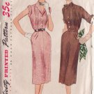 SIMPLICITY PATTERN 3610 SIZE 16 MISSES' 1 PIECE DRESS DATED 1951