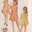 SIMPLICITY 7521 PATTERN SIZE 12 CHILD'S JIFFY DRESS IN 2 VARIATIONS AND SCARF