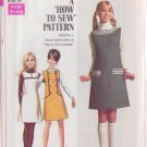 SIMPLICITY PATTERN 7825 SIZE 12 MISSES' JUMPER IN 3 VARIATIONS UNCUT