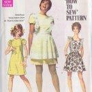 SIMPLICITY PATTERN 8010 SIZE 9/10 MISSES' DRESS, MINI PINAFORE UNCUT