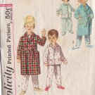 SIMPLICITY VINTAGE PATTERN 4250 SIZE 5 CHILD'S PAJAMAS AND ROBE