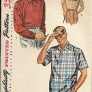 SIMPLICITY VINTAGE PATTERN 4544 SIZE SMALL 34/36 MEN'S SHIRT 3 VERSIONS