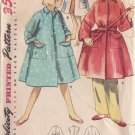 SIMPLICITY VINTAGE PATTERN 4504 SIZE 8 CHILD'S ROBE DUSTER COVER UP