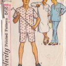 SIMPLICITY VINTAGE 5039 SIZE MEDIUN 38-40 MEN'S PAJAMAS AND NIGHTSHIRT