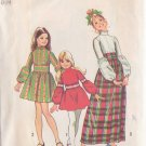 SIMPLICITY 1972 VINTAGE 5169 SIZE 6 GIRL'S DRESS IN 2 LENGTHS