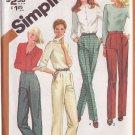 SIMPLICITY 1981 VINTAGE 5205 SIZE 16 MISSES' PANTS WITH LEG VARIATIONS