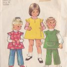 SIMPLICITY 1972 VINTAGE 5214 SIZE 2 GIRL'S JUMPER TOP AND PANTS