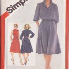 SIMPLICITY 1981 VINTAGE 5242 SIZE 10 MISSES PULLOVER SHIRT DRESS