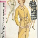 SIMPLICITY 1963 VINTAGE 5258 SIZE 14 MISSES ONE PIECE DRESS 3 STYLES