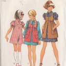 SIMPLICITY 1972 VINTAGE 5280 SIZE 10 GIRL'S DRESS AND SMOCK