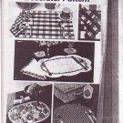 SIMPLICITY 1973 VINTAGE 5473 SET OF PLACE MATS NAPKINS COASTER NAPKIN RINGS