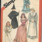 SIMPLICITY VNTG 5741 COSTUME PATTERN SZ 6-8 WITCH ANGEL, PURITAN, COLONIAL PRAIRIE